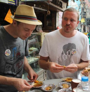 Safely eating indian street food in India. Food tour packages