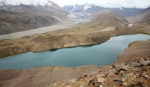 Chandrataal lake. Adventure travel in India